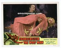 #065 FRANKENSTEIN MEETS THE WOLF MAN lobby card #7 R49 w/girl!!