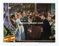 #022 FRANKENSTEIN MEETS THE WOLF MAN #8 lobby card '43 crowd!!