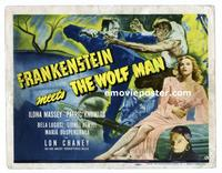 #015 FRANKENSTEIN MEETS THE WOLF MAN title lobby card '43 Bela Lugosi!