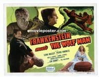 #063 FRANKENSTEIN MEETS THE WOLF MAN title lobby card R49 cool image!!