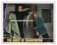 #008 GHOST OF FRANKENSTEIN #2 lobby card '42 Chaney Jr & Lugosi!!
