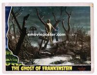 #010 GHOST OF FRANKENSTEIN #4 lobby card '42 best graveyard scene!!