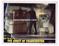 #012 GHOST OF FRANKENSTEIN #6 lobby card '42 Lon Chaney escaping!!