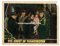 #014 GHOST OF FRANKENSTEIN #8 lobby card '42 Bellamy pointing!!