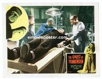 #076 GHOST OF FRANKENSTEIN lobby card #2 R48 monster on table!!