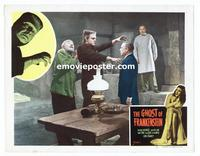 #073 GHOST OF FRANKENSTEIN lobby card #7 R48 wild image!!