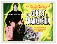 #071 GHOST OF FRANKENSTEIN title lobby card R48 Lon Chaney Jr.!
