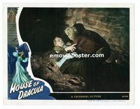 #033 HOUSE OF DRACULA #3 lobby card '45 best Lon Chaney closeup!!