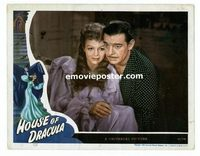 #035 HOUSE OF DRACULA #5 lobby card '45 Lon Chaney Jr. close up!!