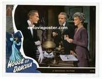 #037 HOUSE OF DRACULA #7 lobby card '45 John Carradine shoots up!!