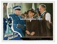 #038 HOUSE OF DRACULA #8 lobby card '45 Lionel Atwill glares!!