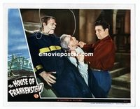 #024 HOUSE OF FRANKENSTEIN #2 lobby card '44 Karloff, Lon Chaney!
