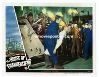 #025 HOUSE OF FRANKENSTEIN #3 lobby card '44 Karloff & monster!!