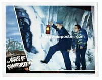 #026 HOUSE OF FRANKENSTEIN #4 lobby card '44 Karloff finds him!!