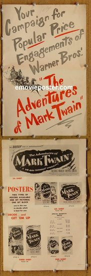 5003 ADVENTURES OF MARK TWAIN movie pressbook '44 March, Smith
