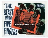 2035 BEAST WITH FIVE FINGERS #3 lobby card '47 Peter Lorre, Alda
