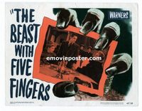 2039 BEAST WITH FIVE FINGERS #7 lobby card '47 Alda and Naish!