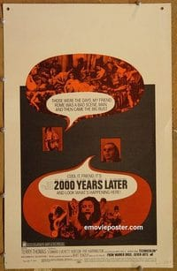 3101 2000 YEARS LATER window card '69 historical comedy!