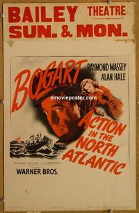 3102 ACTION IN THE NORTH ATLANTIC window card '43 Humphrey Bogart