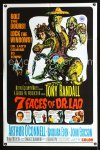 0657FF 7 FACES OF DR. LAO 1sh '64 great art of Tony Randall's personalities by Joseph Smith!
