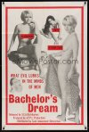 0878FF BACHELOR'S DREAM 1sh '67 these sexy babes are the evil that lurks in the minds of men!