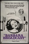 0881TF BARBARA BROADCAST 1sh '77 sexy C. J. Laing on dinner plate, Radley Metzger