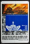 0670FF BATTLE OF THE BULGE int'l 1sh '66 Henry Fonda, Robert Shaw, cool Thurston tank art!