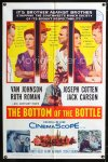 0676FF BOTTOM OF THE BOTTLE 1sh '56 alcoholic Van Johnson, Joseph Cotten, Ruth Roman, Jack Carson