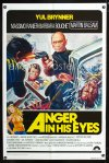 0685FF DEATH RAGE int'l 1sh '76 cool art of Yul Brynner shooting big gun, Anger in His Eyes!