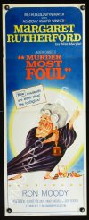 0649FF MURDER MOST FOUL insert '64 art of Margaret Rutherford, written by Agatha Christie!