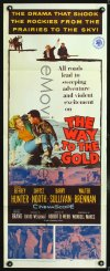 0654FF WAY TO THE GOLD insert '57 image of Jeffrey Hunter & carrying wounded Sheree North!