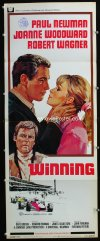 0656FF WINNING insert '69 Paul Newman, Joanne Woodward, Indy car racing art by Howard Terpning!
