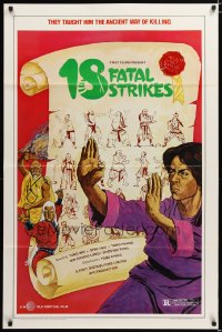1372TF 18 FATAL STRIKES 1sh '81 martial arts, they taught him the ancient way of killing!