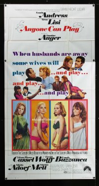 0790FF ANYONE CAN PLAY 3sh '68 sexiest near-naked Ursula Andress, Virna Lisi, Claudine Auger & Mell!