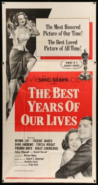 2432FF BEST YEARS OF OUR LIVES style A 3sh R54 Dana Andrews hugs Teresa Wright, sexy Virginia Mayo!