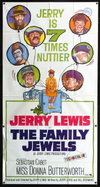 0794FF FAMILY JEWELS 3sh '65 wacky Jerry Lewis is seven times nuttier in seven roles!