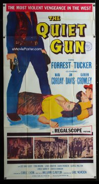 0806FF QUIET GUN 3sh '57 Forrest Tucker, sexy Mara Corday, the most violent vengeance in the West!