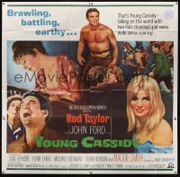 1078FF YOUNG CASSIDY 6sh '65 John Ford, barechested, brawling, battling, earthy Rod Taylor!
