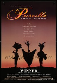 2009UF ADVENTURES OF PRISCILLA QUEEN OF THE DESERT DS 1sh '94 silhouette of Stamp, Weaving, Pearce!