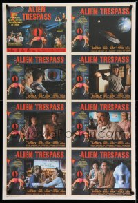 2011UF ALIEN TRESPASS 1sh '09 creeping, crawling nightmare of terror, uncut sheet of lobby cards!