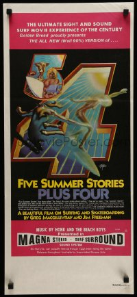 2460FF FIVE SUMMER STORIES PLUS FOUR Aust daybill '76 Griffin art, ultimate surf movie experience!