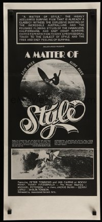 2464FF MATTER OF STYLE Aust daybill '76 black and white images of incredible Australian surfers!