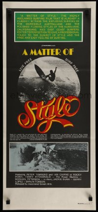 2465FF MATTER OF STYLE Aust daybill '76 images of incredible Australian surfers, cool color design!