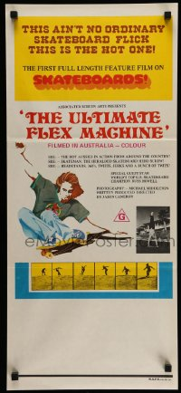 2467FF ULTIMATE FLEX MACHINE Aust daybill '75 Jason Cameron, no ordinary skateboarding documentary!