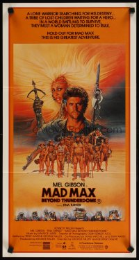 1331FF MAD MAX BEYOND THUNDERDOME Aust daybill '85 art of Mel Gibson & Tina Turner by Richard Amsel