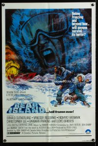 0671FF BEAR ISLAND 1sh '81 art of Donald Sutherland & Vanessa Redgrave by Graves, Alistair MacLean