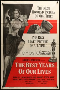 2042TF BEST YEARS OF OUR LIVES style A 1sh R54 Dana Andrews, Teresa Wright, sexy Virginia Mayo!