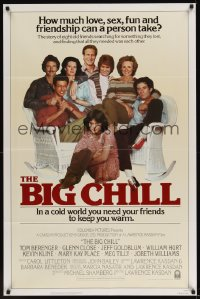 0059TF BIG CHILL Int'l 1sh '83 Lawrence Kasdan, Tom Berenger, Glenn Close, Jeff Goldblum, Hurt