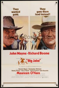 0060TF BIG JAKE 1sh '71 Richard Boone wanted gold but John Wayne gave him lead instead!