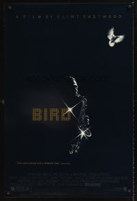 1207UF BIRD 1sh '88 directed by Clint Eastwood, biography of jazz legend Charlie Parker!